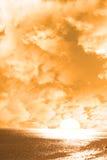 Sunshine over the orange horizon Royalty Free Stock Photography