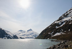 Sunshine over Portage Glacier Royalty Free Stock Photo
