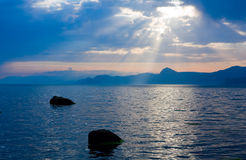 Sunshine over sea Royalty Free Stock Images