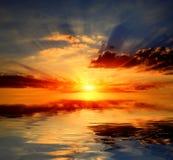 Sunshine over water Stock Photo