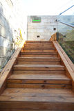 Sunshine over wood stair Royalty Free Stock Photography
