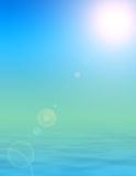 Sunshine paradise. Rendered illustration of bright sunshine, clear skies and calm peaceful ocean background Stock Photography