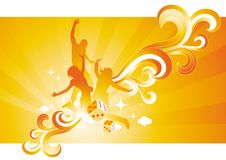 Sunshine People vector illustration