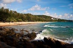 Sunshine at Phuket Beach Thailand. Veiw of ocean of Thailand stock image