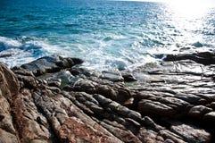 Sunshine at Phuket Beach Thailand. Veiw of ocean of Thailand royalty free stock photos