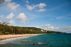 Sunshine at Phuket Beach Thailand. Veiw of ocean of Thailand stock photography