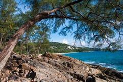 Sunshine at Phuket Beach Thailand. Veiw of ocean of Thailand royalty free stock photo