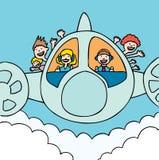 Sunshine Plane Stock Image