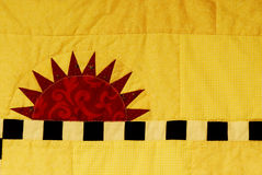 Sunshine quilt Stock Image