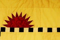 Sunshine quilt Stock Image