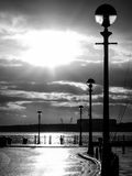 Sunshine after rain, riverside, Liverpool Royalty Free Stock Photo