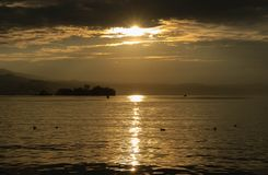 Sunshine in Rapperswil CH royalty free stock photography