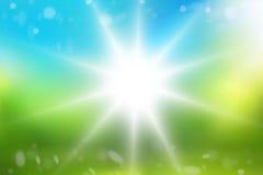 Sunshine rays background graphic illustration design. Graphic illustration background Stock Photography
