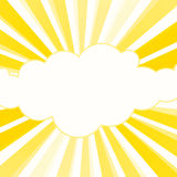 Sunshine Rays Yellow Frame. Yellow sunshine rays frame in a circular shape stock illustration