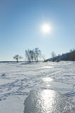 Sunshine on the river in winter Stock Photography