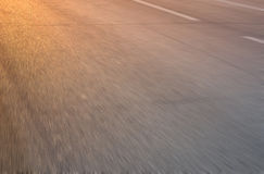 Sunshine on the road Royalty Free Stock Photos