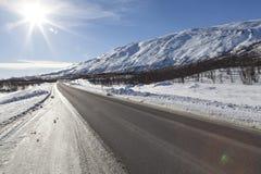Sunshine road Royalty Free Stock Image