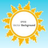Sunshine round  background. Stock Photos