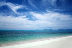 Sunshine and sandy beach and tropical sea at Samui Island,soft a. Nd blurry background Royalty Free Stock Photography