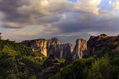Sunshine Scenic wiew on the Meteora Royalty Free Stock Photography