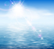 Sunshine by the sea Royalty Free Stock Images