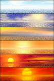 Sunshine seascape header set Royalty Free Stock Photo