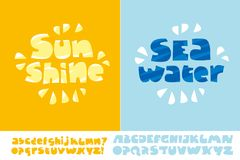 Sunshine and seawater summer text poster Royalty Free Stock Photography