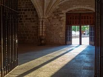 Sunshine and shadows - San Juan de Ortega Stock Image