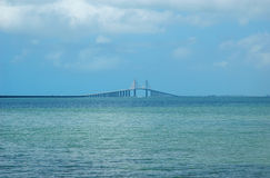 Sunshine Skyway. Cable-stayed bridge across Tampa Bay, Florida Royalty Free Stock Photography