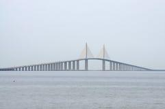 Sunshine Skyway Bridge, Florida. Sunshine Skyway Bridge over the Tampa Bay, Florida royalty free stock photography