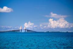 Sunshine Skyway Bridge. In Florida royalty free stock image