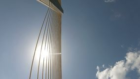 Sunshine skyway bridge. Low angle view of the Sunshine Skyway Bridge over Tampa Bay stock video footage