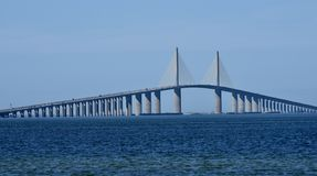 Sunshine Skyway Bridge From Manatee County. This is a Winter picture of the iconic Sunshine Skyway Bridge as seen from Manatee County, Florida. This 4.14 mile stock photo