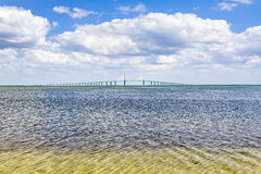 Sunshine Skyway Bridge Over Tampa Bay Stock Images