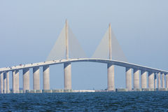 The sunshine skyway bridge seen from Terra Ceia Stock Images