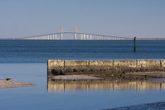 The sunshine skyway bridge Stock Photos
