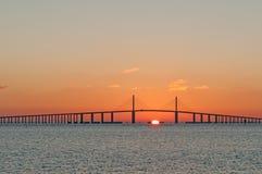 Sunshine Skyway Bridge. In Tampa Bay, Florida stock images