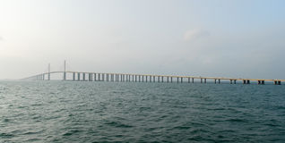 Sunshine Skyway Bridge - Tampa Bay, Florida Royalty Free Stock Photography