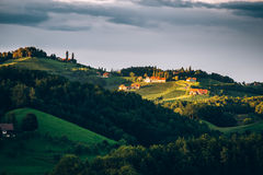Sunshine in Southern Styria Stock Photos