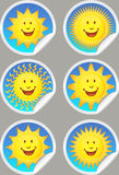Sunshine Stickers Royalty Free Stock Image