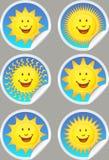 Sunshine Stickers Royalty Free Stock Image