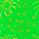 Sunshine, summer, pattern. Royalty Free Stock Images