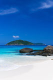 Sunshine tropical Scene Beach, Tachai island, Thailand Royalty Free Stock Image