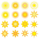 Sunshine vector icon Royalty Free Stock Photography