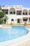 Sunshine villa. View with pool Stock Photos