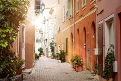 Sunshine in Villefranche-sur-Mer Royalty Free Stock Photos
