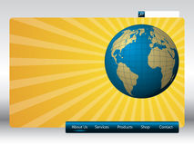 Sunshine web template Royalty Free Stock Photography