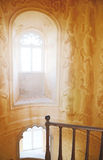 Sunshine window in castle Pena Sintra, Portugal Royalty Free Stock Images