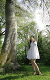 Sunshinemädchen Stockfoto