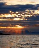 Sunshines at the seaside Royalty Free Stock Image